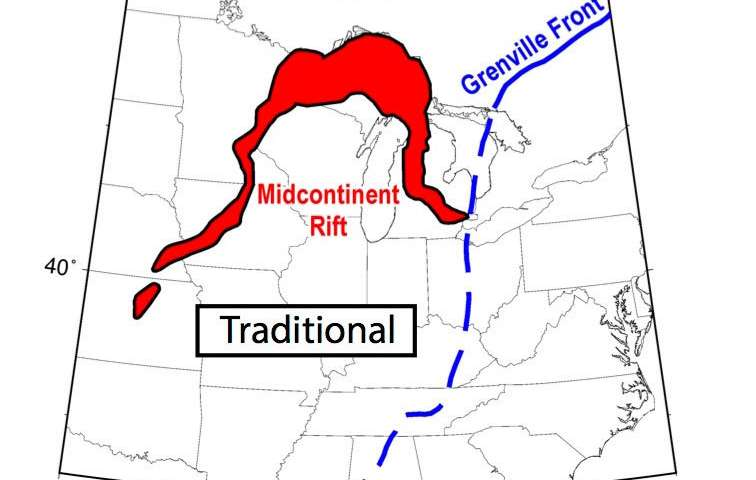 Geologists disprove theory about what stopped the formation of the Midcontinent Rift