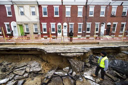 Huge sinkholes are now appearing in the wrong places
