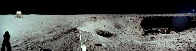 Image: Lunar module at Tranquility Base
