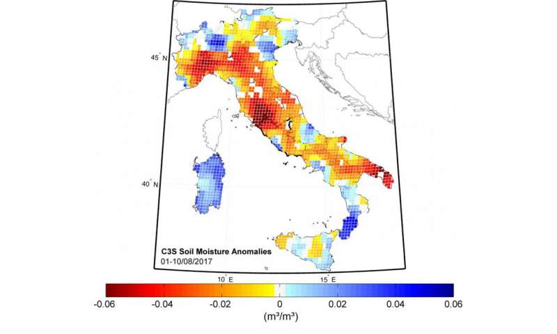 Areas Of Italy Map.Italy S Drought Seen From Space