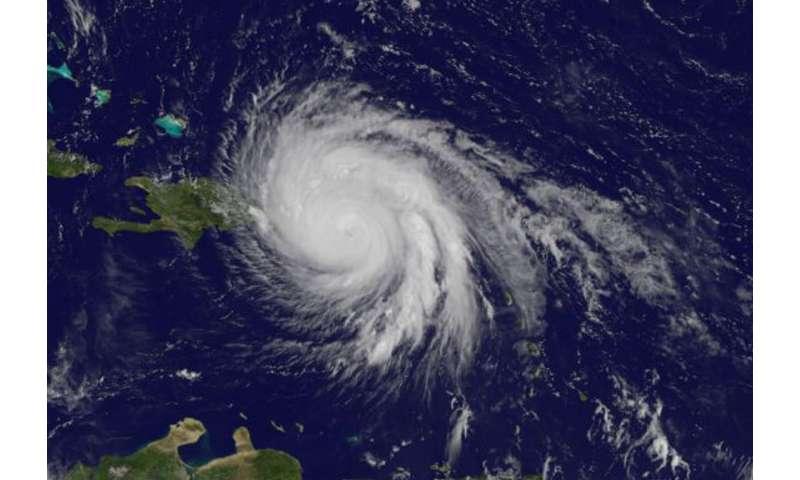NASA finds very heavy rainfall in Hurricane Maria