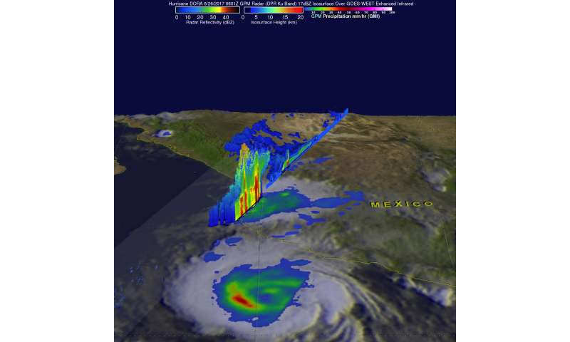 NASA looks at rainfall from Tropical Storm Dora