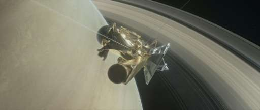NASA's Cassini spacecraft prepares to make one of its dives between Saturn and its innermost rings on April 6, 2017