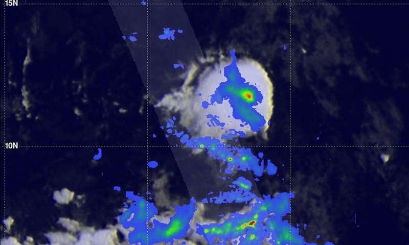 NASA sees Central Atlantic Ocean's forming Tropical Depression 4