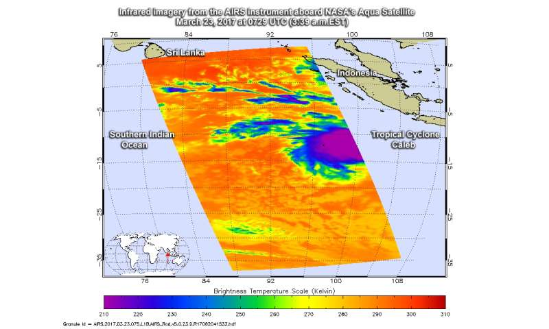 NASA sees formation of Tropical Cyclone Caleb near Cocos Island