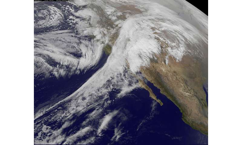 NASA sees storms affecting the western US