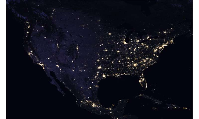 New night lights maps open up possible real-time applications