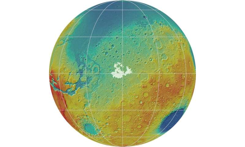 New study may help identify areas with and without accessible water ice on Mars