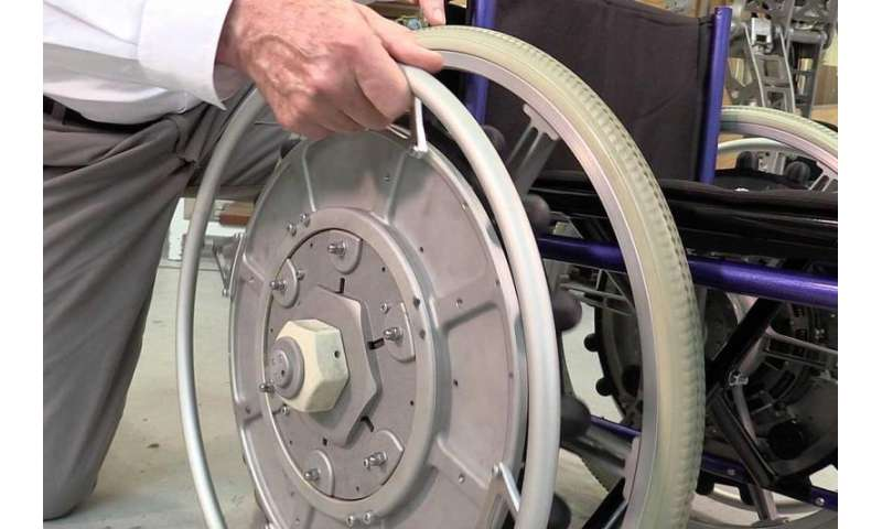 New wheelchair prototype with an innovative propulsion system