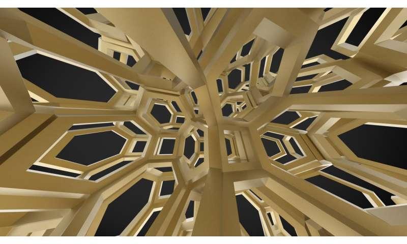 'Origami' lattices with nano-scale surface ornaments