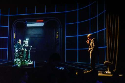 Renowned physicist Stephen Hawking has spoken to a Hong Kong audience by hologram, showcasing the growing reach of a technology