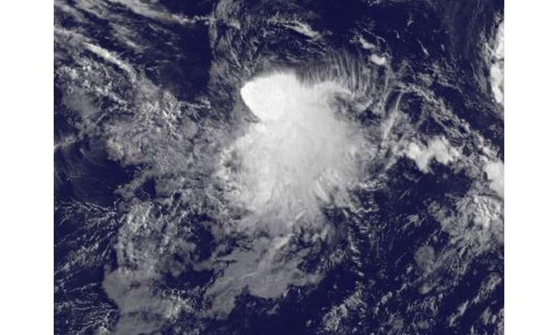 Satellite image captures development of Tropical Storm Depression 8E