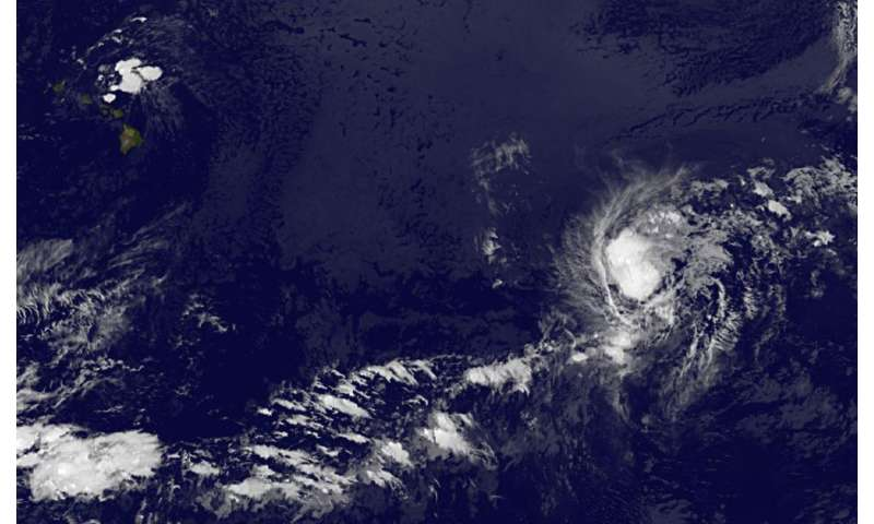 Satellite shows Tropical Storm Greg losing shape