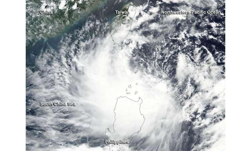 Satellite watches remnants of Tropical Storm Harvey near Honduras