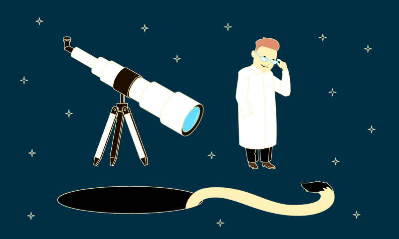 Scientists use mismatch in telescopic data to get a handle on quasars and their 'tails'