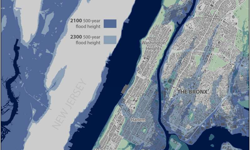 Sea-level rise, not stronger storm surge, will cause future NYC flooding