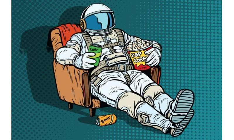 Secret weapon for space travelers—a steady diet of tv?