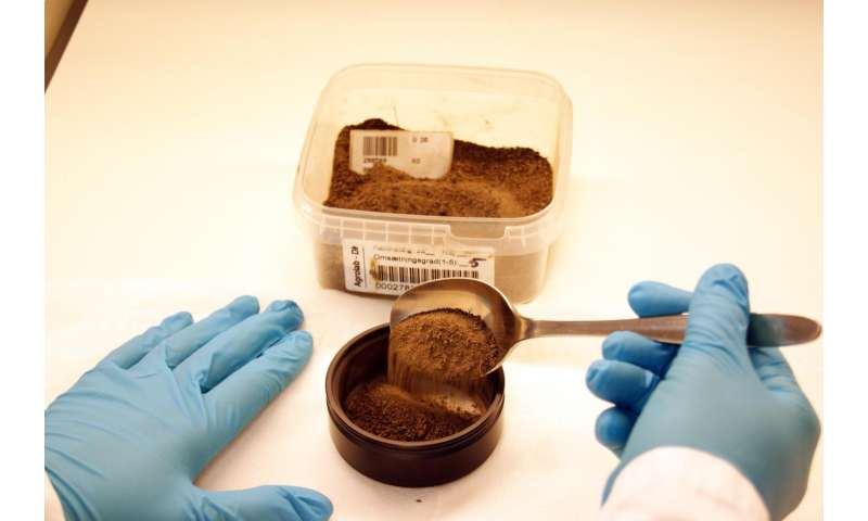 Spectroscopy: Simple solution for soil sample