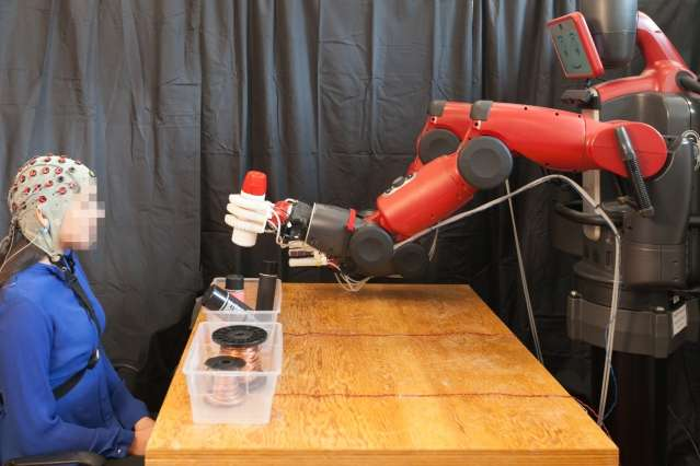 System enables people to correct robot mistakes using brain signals
