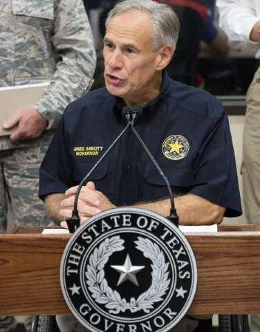 Texas Governor Greg Abbott gives an update on the aftermath of Hurricane Harvey and severe flooding in the state