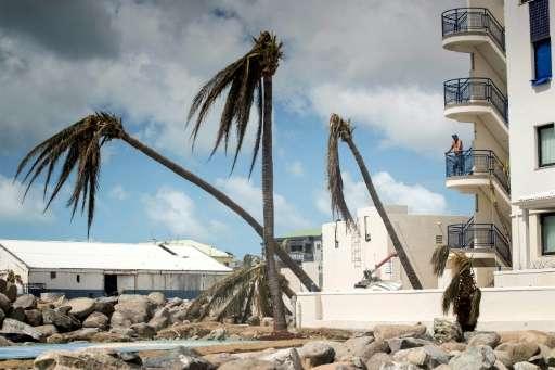 The devastation caused by Hurricane Irma on the Dutch Caribbean island of St Maarten