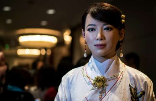 The humanoid robot 'Jia Jia' was created by a team of engineers from the University of Science and Technology of China
