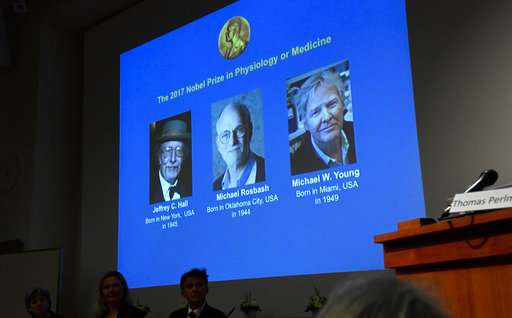The Latest: Nobel winner Hall: People can be helped by this