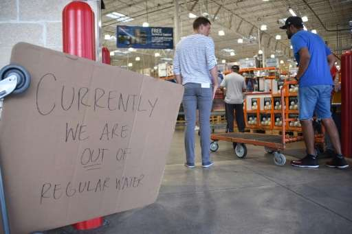 This food store in North Miami ran out of water as people stocked up ahead of Hurricane Irma