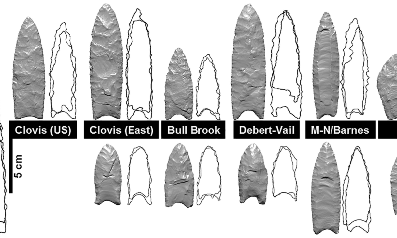 Traces of adaptation and cultural diversification found among early North American stone tools