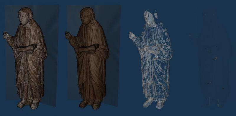 Researchers from the UGR develop a new software which adapts medical technology to see the interior of a sculpture