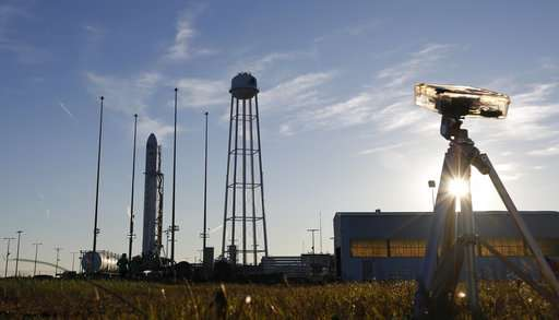 Space station getting delivery from Virginia for a change
