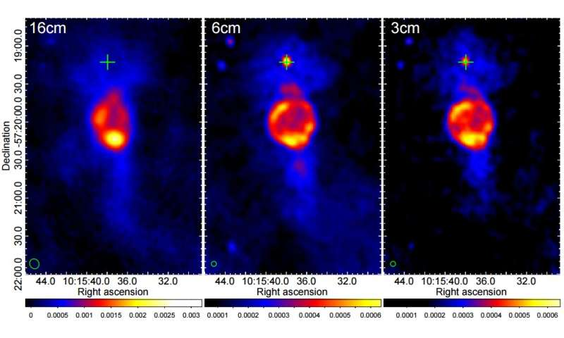 Astronomers discover bubble-like structure associated with the pulsar PSR J1015−5719