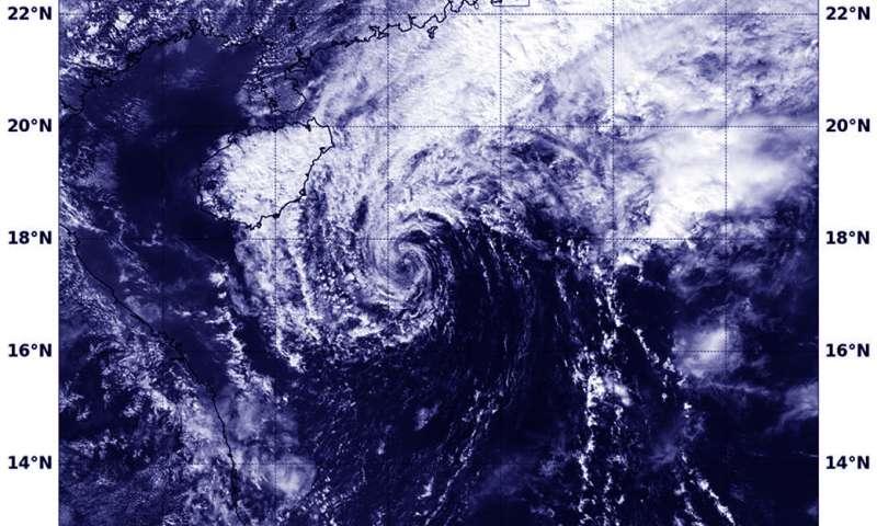 NASA-NOAA's Suomi NPP finds Tropical Depression Haikui dissipating