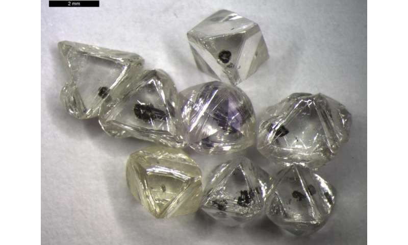Diamond's 2-billion-year growth charts tectonic shift in early Earth's carbon cycle