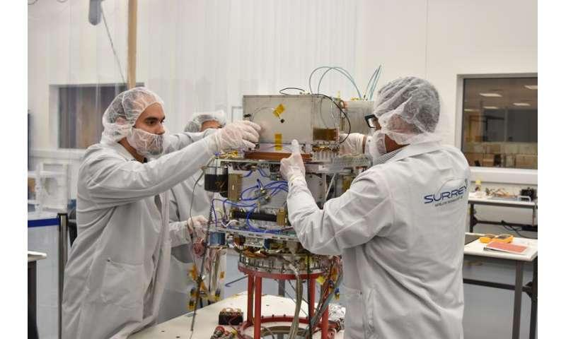 Futuristic clock prepared for space