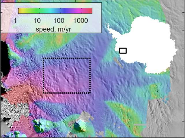 Hidden lakes drain below West Antarctica's Thwaites Glacier
