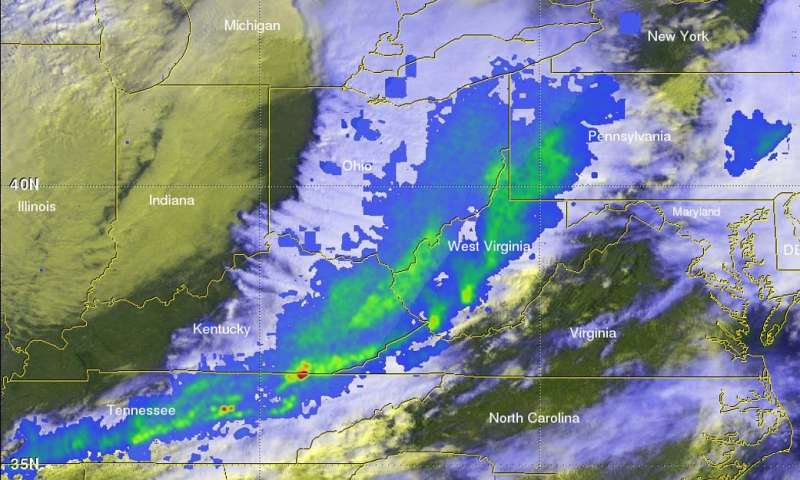 NASA examines deadly spring-like weather with GPM satellite