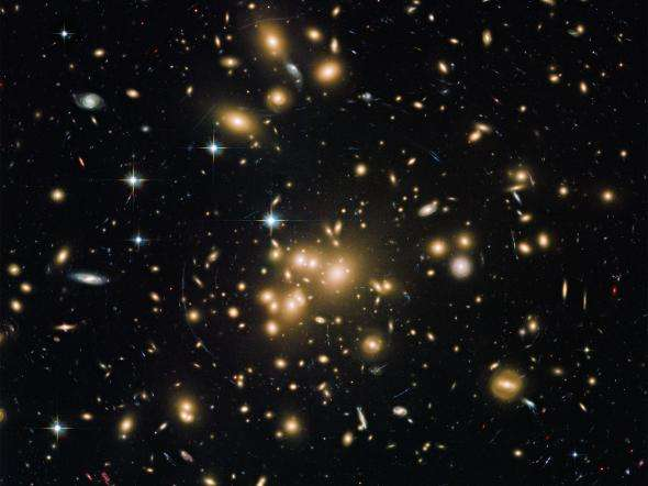 Properties of a massive galaxy 800 million years after the Big Bang