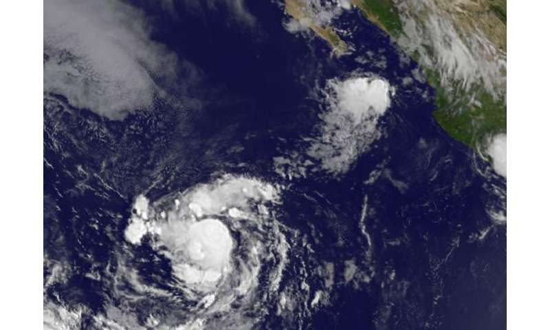 Satellite sees the formation of eastern Pacific's Tropical Depression 13E