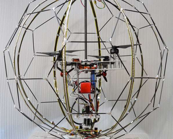 World's first spherical drone display