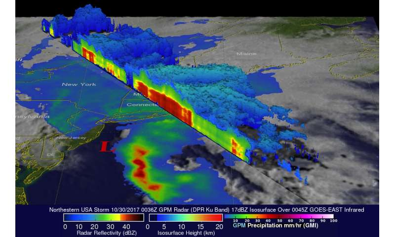 NASA examines the powerful US Northeast storm