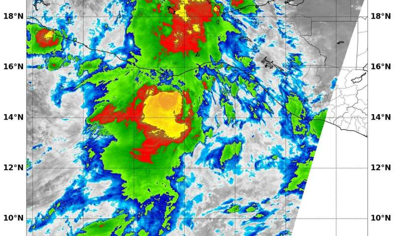 NASA satellite finds powerful storms in Tropical Storm Ramon's center