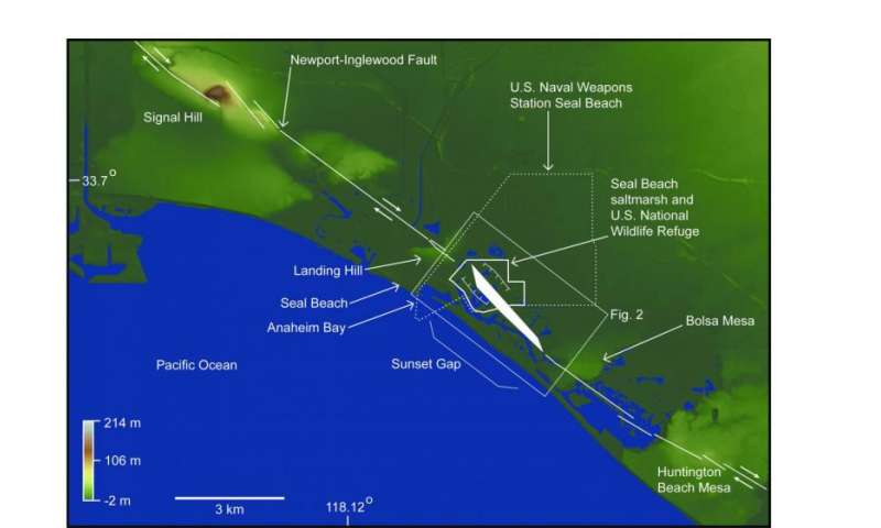 Study reveals wetlands are susceptible to rapid lowering in elevation during large earthquakes