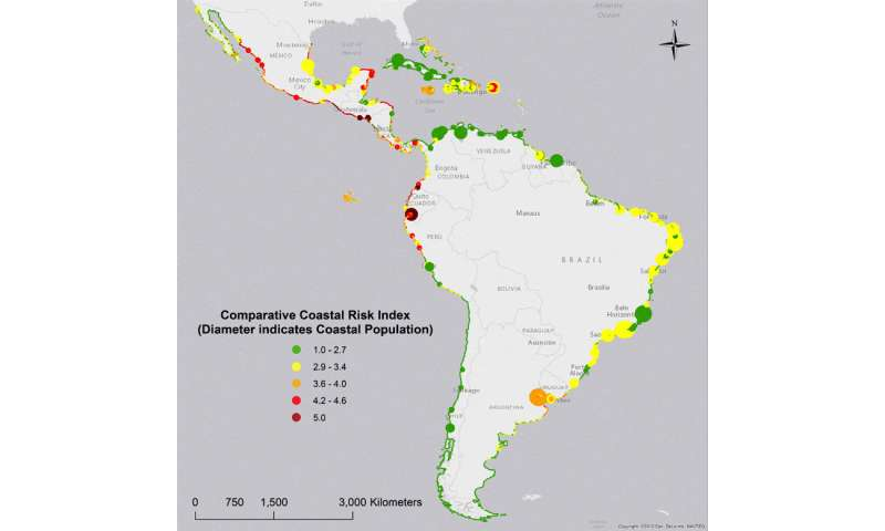 Scientists identify hotspots of coastal risks in Latin America and the Caribbean