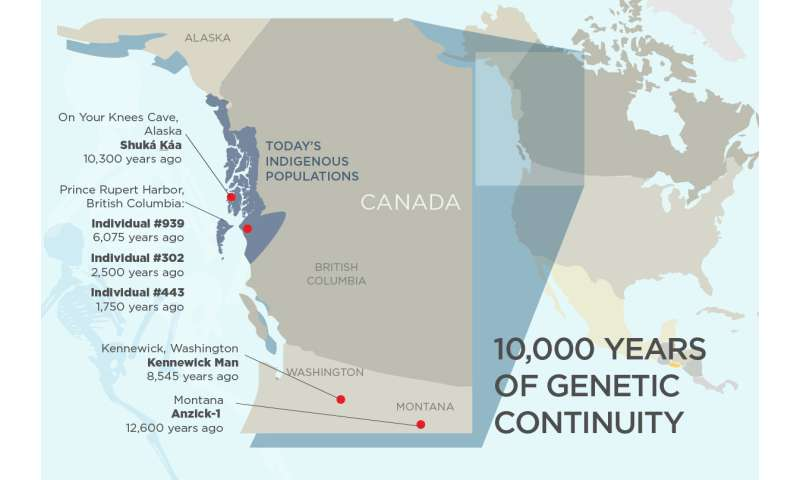 Study reveals 10,000 years of genetic continuity in northwest North America