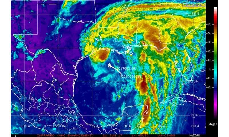 NASA sees Tropical Storm Cindy soaking the Gulf Coast
