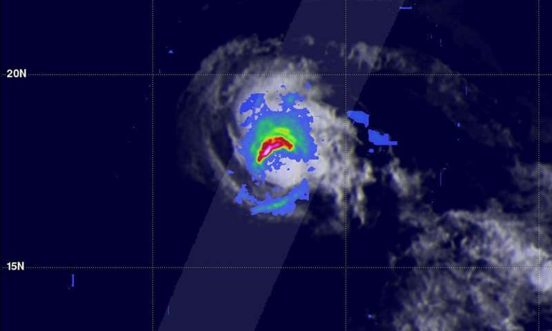 NASA sees Tropical Storm Fernanda sliding into central Pacific