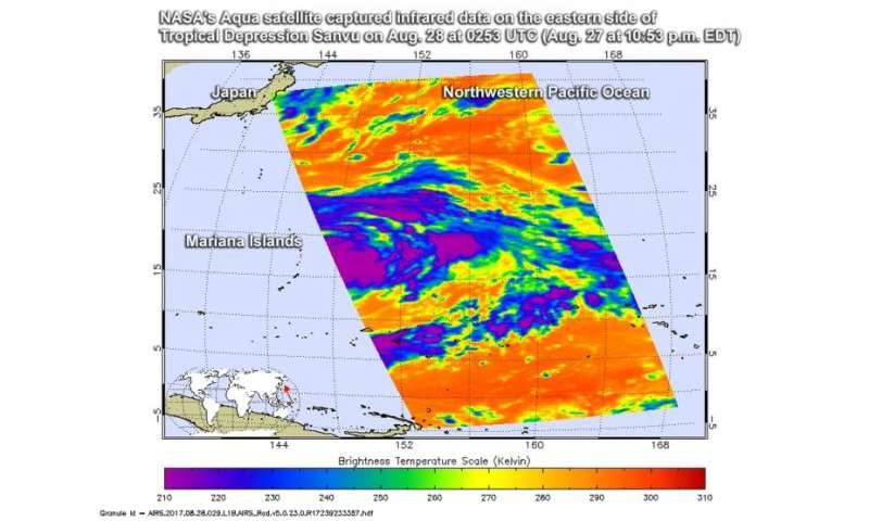 NASA gets an infrared view of Tropical Cyclone Sanvu