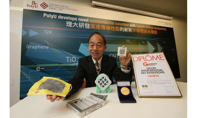 PolyU develops novel semiconductor nanofiber with superb charge conductivity
