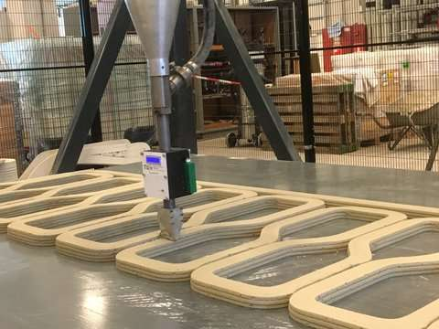 The world's first 3-D printed reinforced concrete bridge starts to take shape